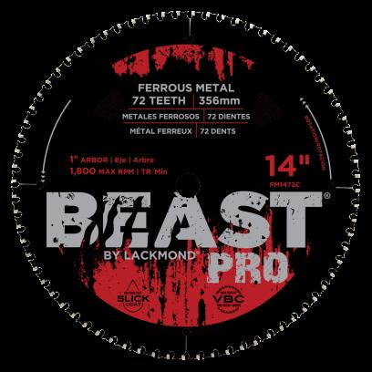 Beast Pro mild & Carbon Steel / Ferrous Metal Blade