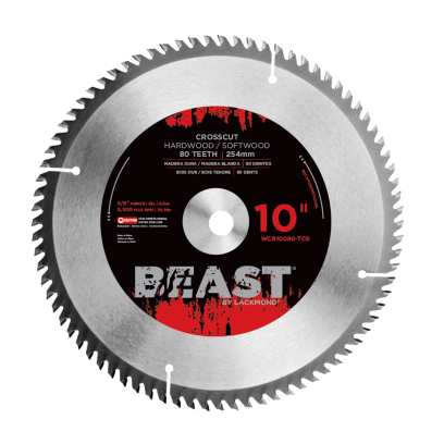 Beast Crosscut Blades with triple chip grind